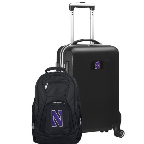Northwestern Wildcats Deluxe 2-Piece Backpack & Carry-On Set