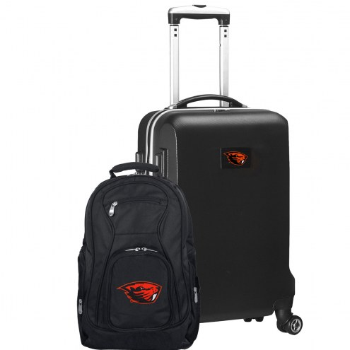 Oregon State Beavers Deluxe 2-Piece Backpack & Carry-On Set