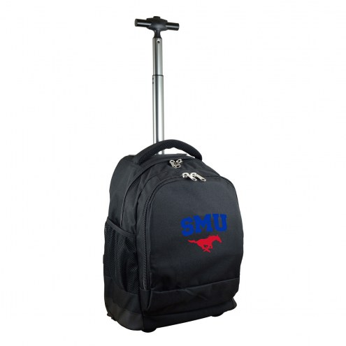 Southern Methodist Mustangs Premium Wheeled Backpack