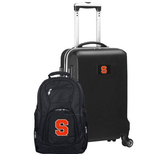 Syracuse Orange Deluxe 2-Piece Backpack & Carry-On Set