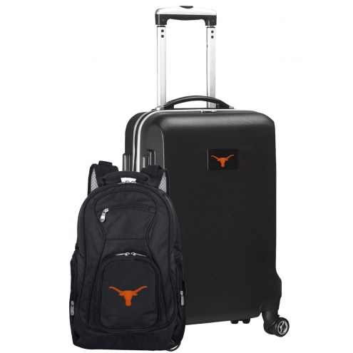 Texas Longhorns Deluxe 2-Piece Backpack & Carry-On Set