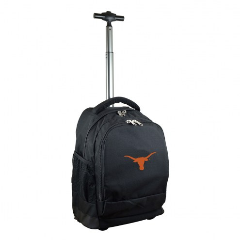 Texas Longhorns Premium Wheeled Backpack