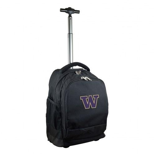 Washington Huskies Premium Wheeled Backpack