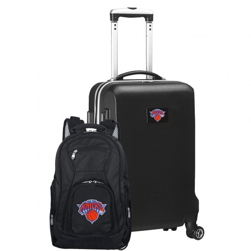 New York Knicks Deluxe 2-Piece Backpack & Carry-On Set
