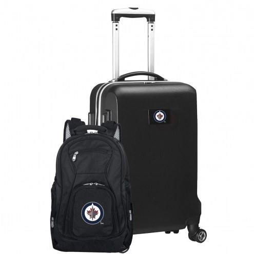 Winnipeg Jets Deluxe 2-Piece Backpack & Carry-On Set