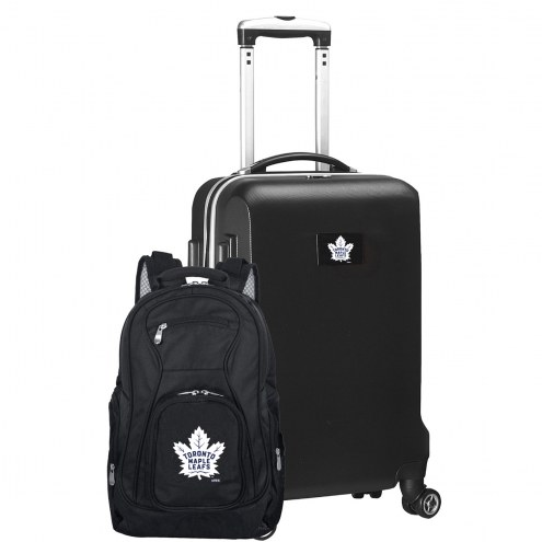 Toronto Maple Leafs Deluxe 2-Piece Backpack & Carry-On Set