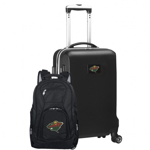 Minnesota Wild Deluxe 2-Piece Backpack & Carry-On Set