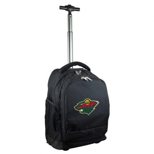 Minnesota Wild Premium Wheeled Backpack