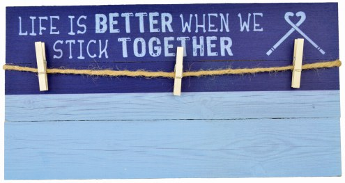 Field Hockey Stick Together 10x20 Hanging Photo Board