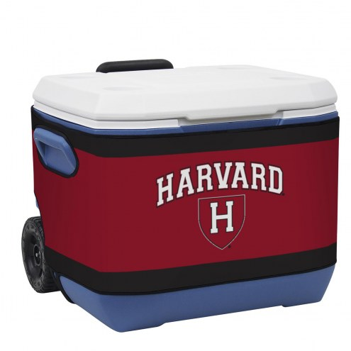Harvard Crimson Rappz 50qt Cooler Cover (Cooler not included)