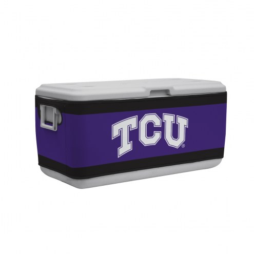 Texas Christian Horned Frogs Rappz 100qt Cooler Cover (Cooler not included)