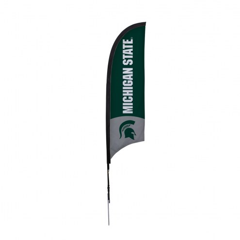 Michigan State Spartans 7' Razor Sail Sign with Ground Spike