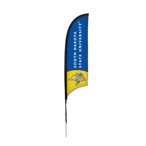 South Dakota State Jackrabbits 7' Razor Sail Sign with Ground Spike