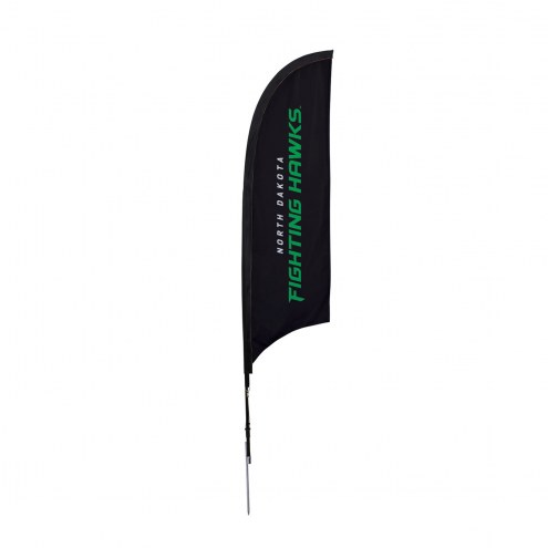 North Dakota Fighting Hawks 7' Razor Sail Sign with Ground Spike