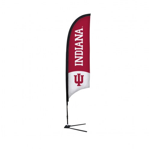 Indiana Hoosiers 7' Razor Sail Sign with Vehicle Base