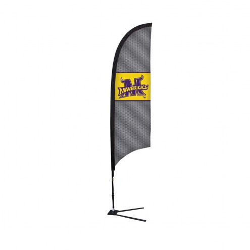Minnesota State Mavericks 7' Razor Sail Sign with Vehicle Base
