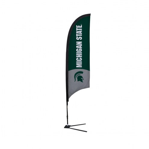 Michigan State Spartans 7' Razor Sail Sign with Vehicle Base