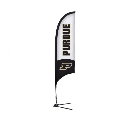 Purdue Boilermakers 7' Razor Sail Sign with Vehicle Base