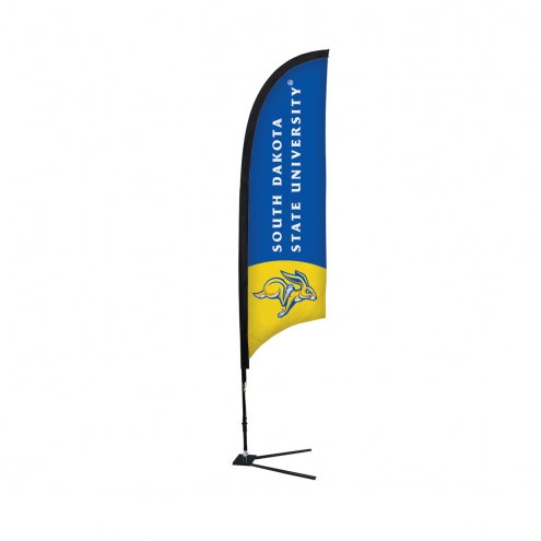South Dakota State Jackrabbits 7' Razor Sail Sign with Vehicle Base