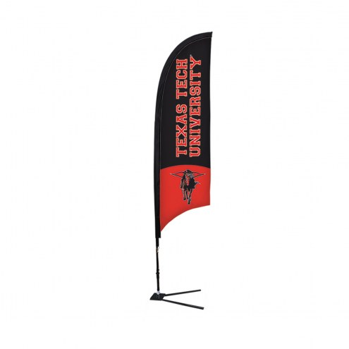 Texas Tech Red Raiders 7' Razor Sail Sign with Vehicle Base