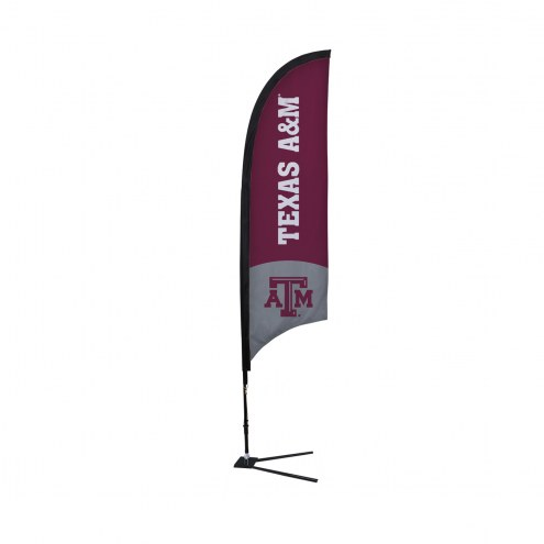 Texas A&M Aggies 7' Razor Sail Sign with Vehicle Base