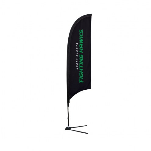 North Dakota Fighting Hawks 7' Razor Sail Sign with Vehicle Base