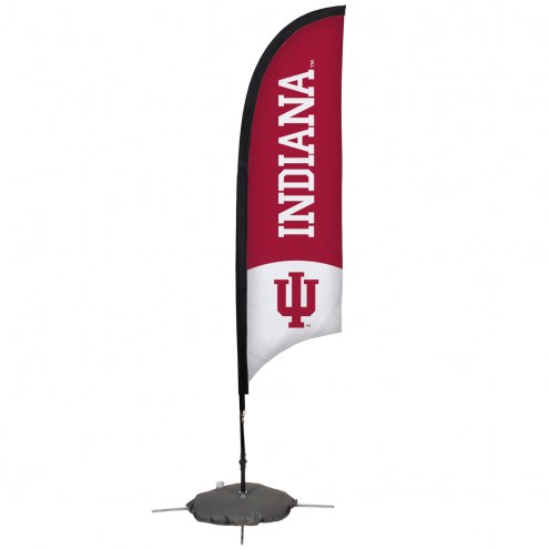Indiana Hoosiers 7' Razor Sail Sign with Scissor Base