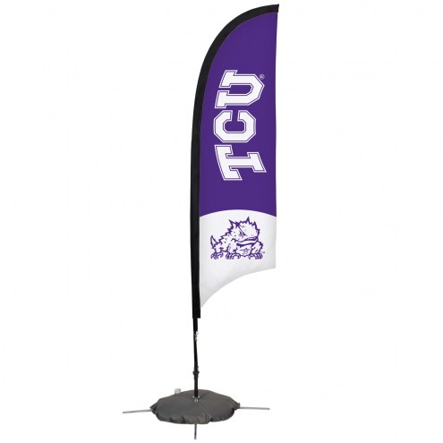 Texas Christian Horned Frogs 7' Razor Sail Sign with Scissor Base