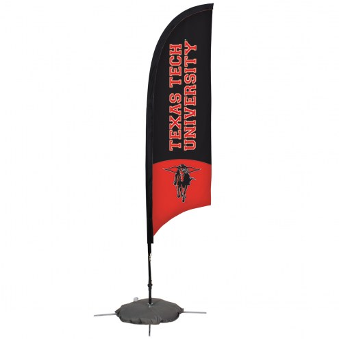 Texas Tech Red Raiders 7' Razor Sail Sign with Scissor Base