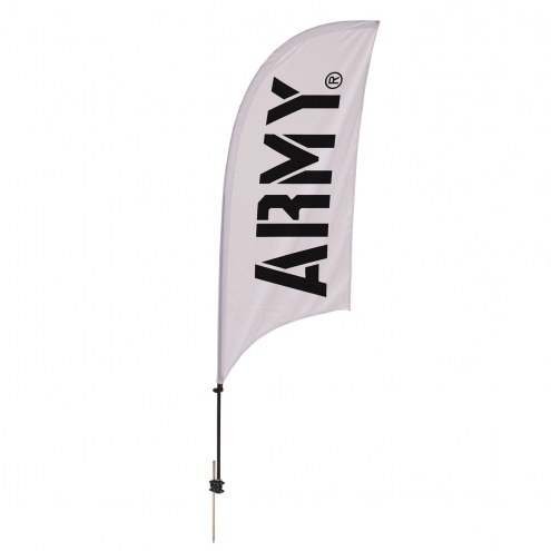 Army Black Knights 7.5' Razor Feather Flag with Ground Spike