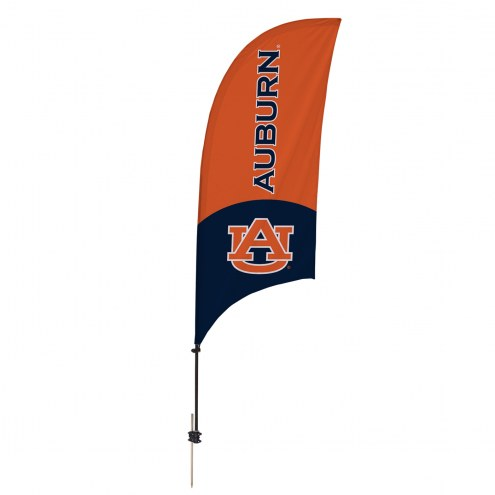 Auburn Tigers 7.5' Razor Feather Flag with Ground Spike