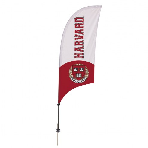 Harvard Crimson 7.5' Razor Feather Flag with Ground Spike
