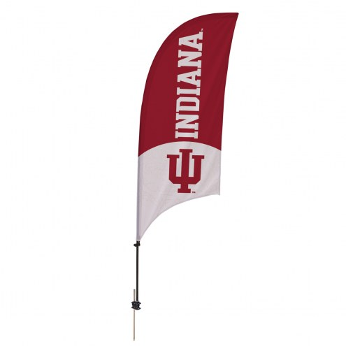 Indiana Hoosiers 7.5' Razor Feather Flag with Ground Spike