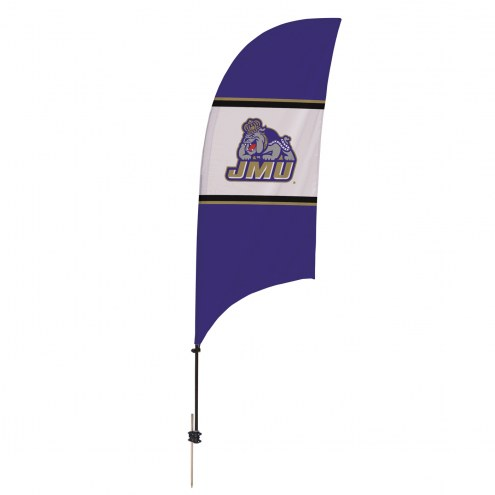James Madison Dukes 7.5' Razor Feather Flag with Ground Spike