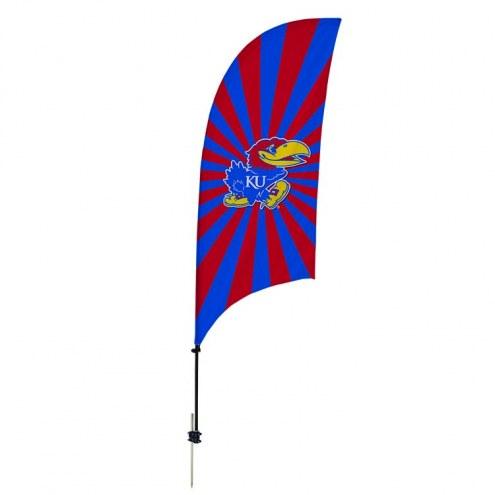 Kansas Jayhawks 7.5' Razor Feather Flag with Ground Spike