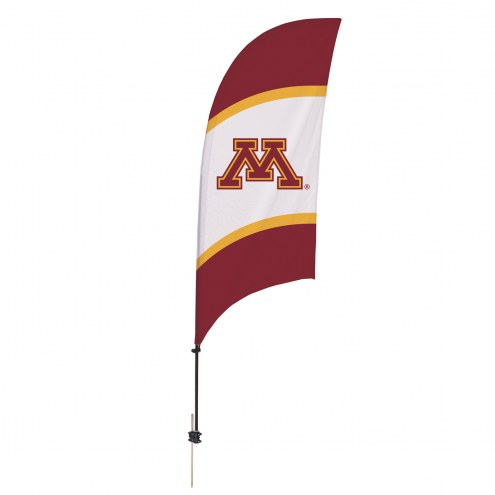 Minnesota Golden Gophers 7.5' Razor Feather Flag with Ground Spike