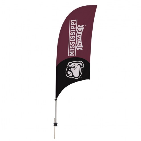 Mississippi State Bulldogs 7.5' Razor Feather Flag with Ground Spike
