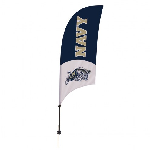 Navy Midshipmen 7.5' Razor Feather Flag with Ground Spike