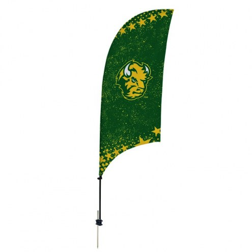 North Dakota State Bison 7.5' Razor Feather Flag with Ground Spike
