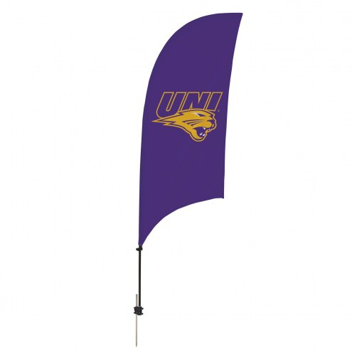 Northern Iowa Panthers 7.5' Razor Feather Flag with Ground Spike