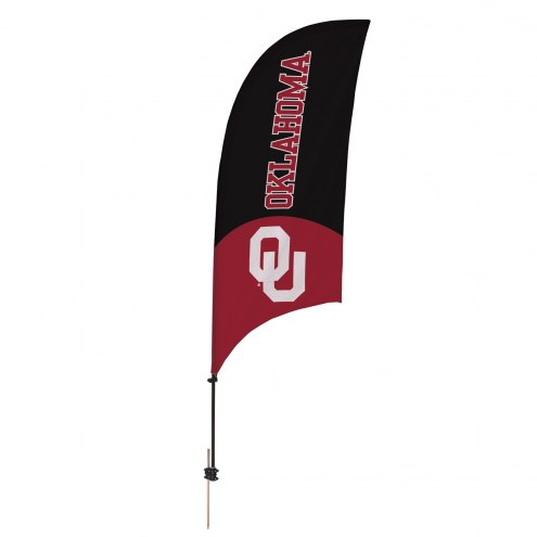 Oklahoma Sooners 7.5' Razor Feather Flag with Ground Spike