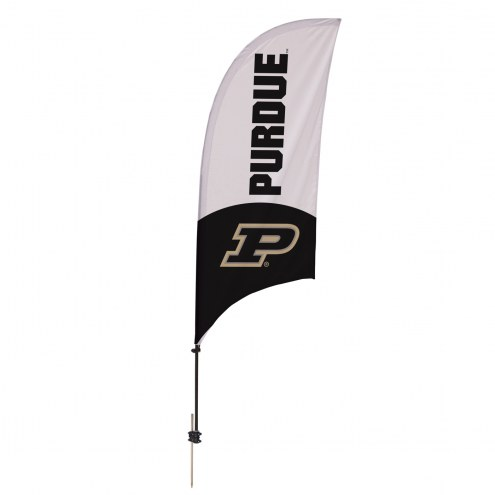 Purdue Boilermakers 7.5' Razor Feather Flag with Ground Spike