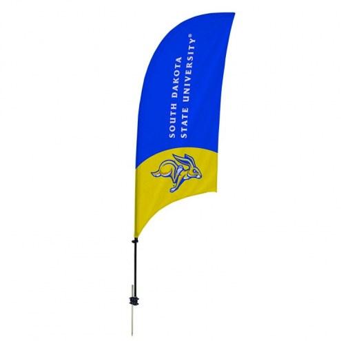South Dakota State Jackrabbits 7.5' Razor Feather Flag with Ground Spike