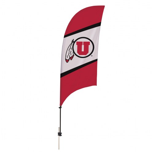 Utah Utes 7.5' Razor Feather Flag with Ground Spike