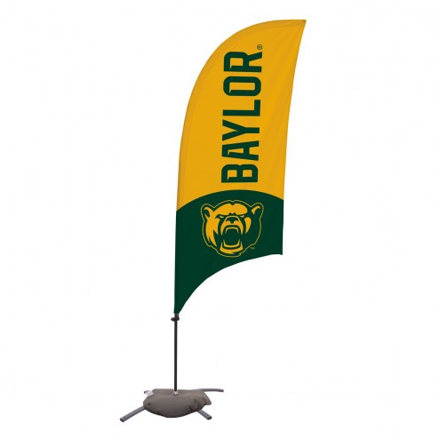 Baylor Bears 7.5' Razor Feather Flag with Cross Base