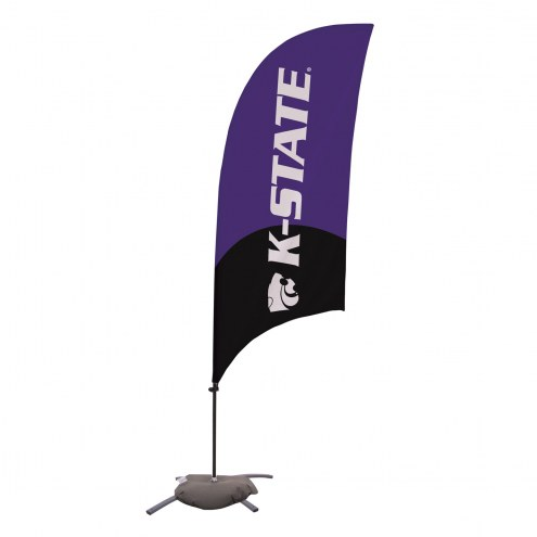 Kansas State Wildcats 7.5' Razor Feather Flag with Cross Base
