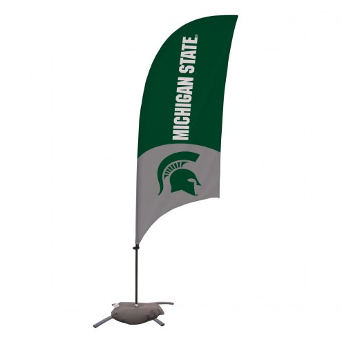 Michigan State Spartans 7.5' Razor Feather Flag with Cross Base