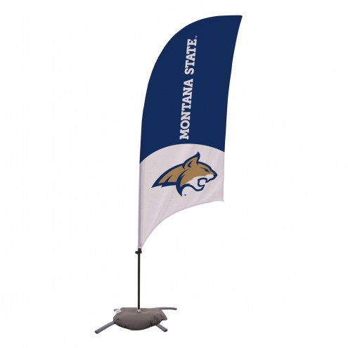 Montana State Bobcats 7.5' Razor Feather Flag with Cross Base