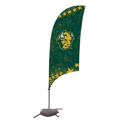 North Dakota State Bison 7.5' Razor Feather Flag with Cross Base