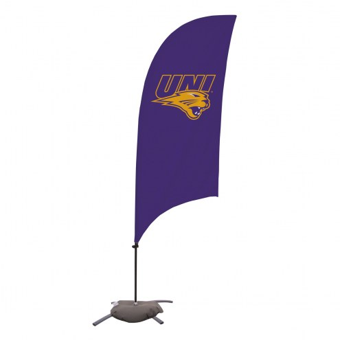Northern Iowa Panthers 7.5' Razor Feather Flag with Cross Base